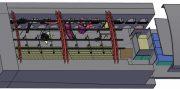 """Opernproduktion """"Maria de Buenos Aires"""" in den Grazer Kasematten: Die 3D-Ansicht zeigt die Anordnung von Bühne, Zuschauerraum und """"Orchester-Aquarium"""" - © Rohde Acoustics"""