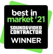 Best in Market Award 2021 von Sound & Video Contractor für ICC24/3