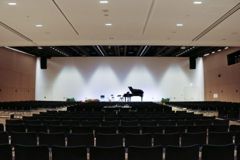 CCA: Plenary hall, view to stage; ©Magdalena Stranzinger