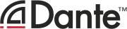 Dante™ Logo. Dante™ ist eine Handelsmarke von Audinate Pty Ltd.