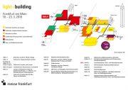 Hallenplan der Messe Light+Building 2018