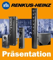 Präsentation neuer Lautsprecher von Renkus-Heinz