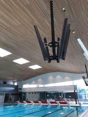 Lautsprecher-Ampeln im Innenbereiche des Offenburger Freizeitbades Stegermatt