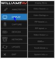 WilliamsAV Annotation Pro Menüsystem